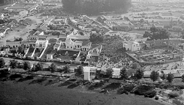La aldea del Rocío a vista de pájaro en 1964