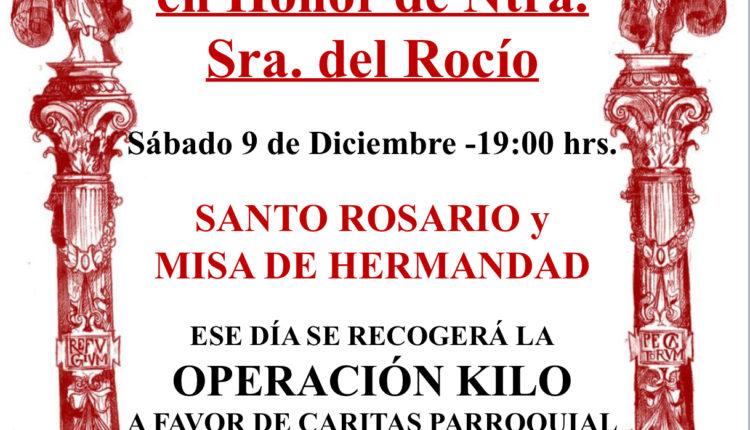 Hermandad de San Sebastián de los Reyes – Sabatina y Recogida de Alimentos