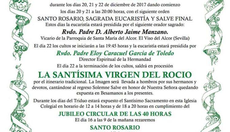 Hermandad de Sevilla El Salvador – Solemne Triduo