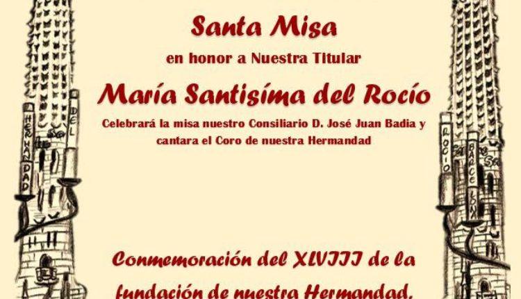 Hermandad de Barcelona – Santa Misa Aniversario
