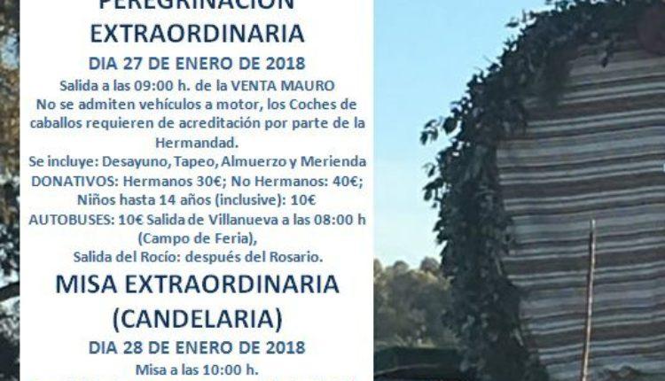 Hermandad de Villanueva del Ariscal – Peregrinación Extraordinaria