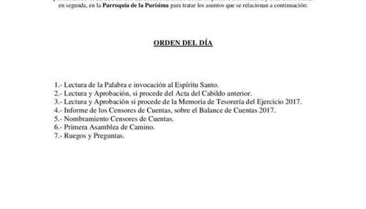 Hermandad de Málaga – Cabildo General Ordinario de Cuentas