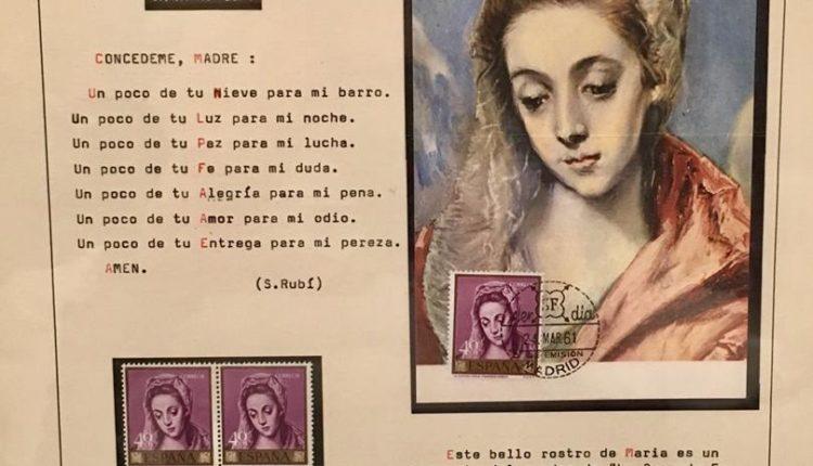 La familia Bueno Montes, de Bonares, dona a la Matriz su Colección Temática de Sellos de la Santísima Virgen María