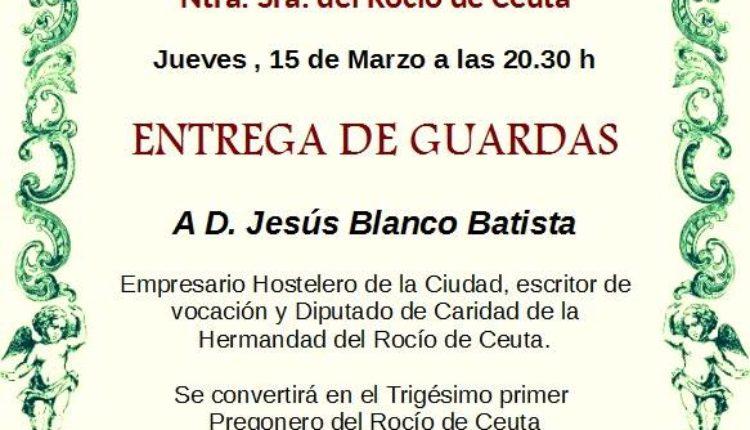 Hermandad de Ceuta – Entrega de Guardas al Pregonero 2018