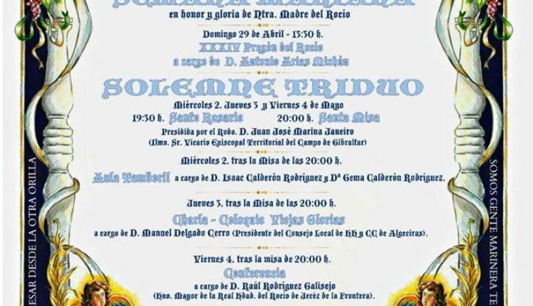 Hermandad de Algeciras – Solemne Triduo 2018 y Pregón a cargo de D. Antonio Arias