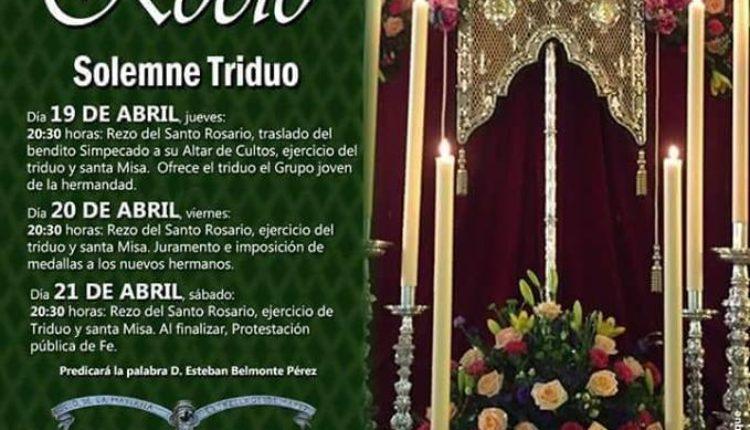 Hermandad de Almería – Solemne Triduo y XXXIII Pregón Rociero