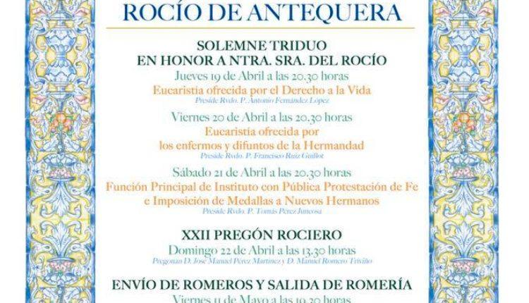 Hermandad de Antequera – Solemne Triduo 2018