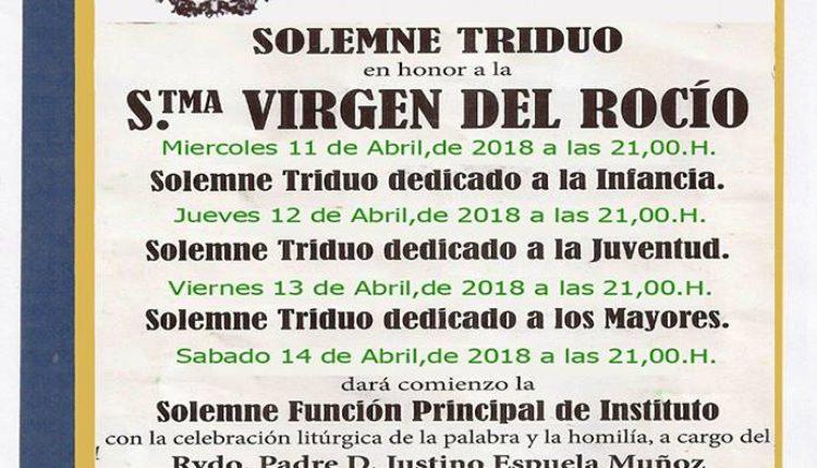 Hermandad de Chucena – Solemne Triduo y Pregón