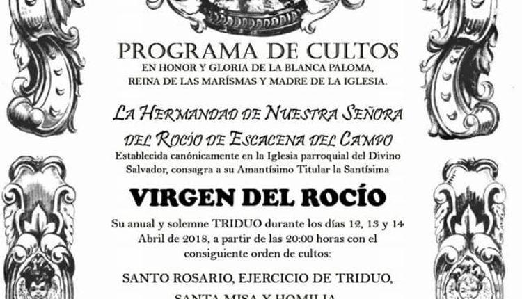 Hermanad de Escacena – Solemne Triduo 2018