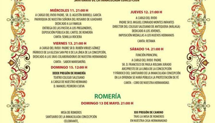 Hermandad de La Línea de la Concepción – Solemne Triduo, Pregón y Romería 2018