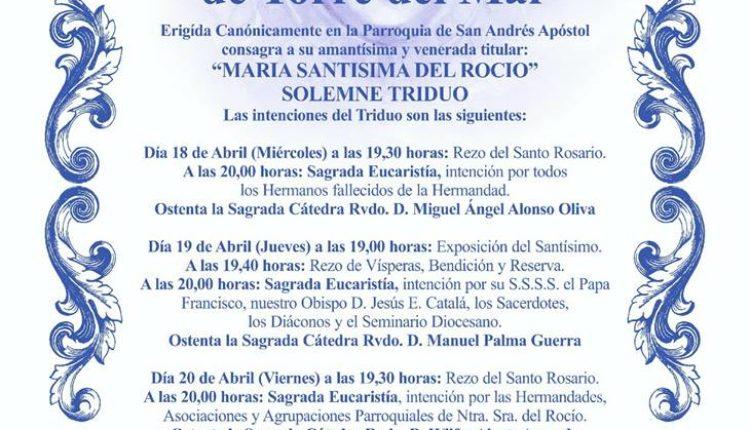 Hermandad de Torre del Mar – Solemne Triduo 2018