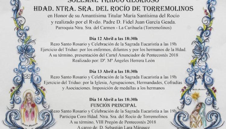 Hermandad de Torremolinos – Solemne Triduo y Pregón a cargo de Don Sebastián Lara Márquez