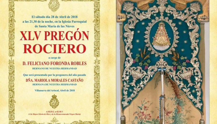 Hermandad de Villanueva del Ariscal – XLV Pregón Rociero a cargo de D. Feliciano Foronda