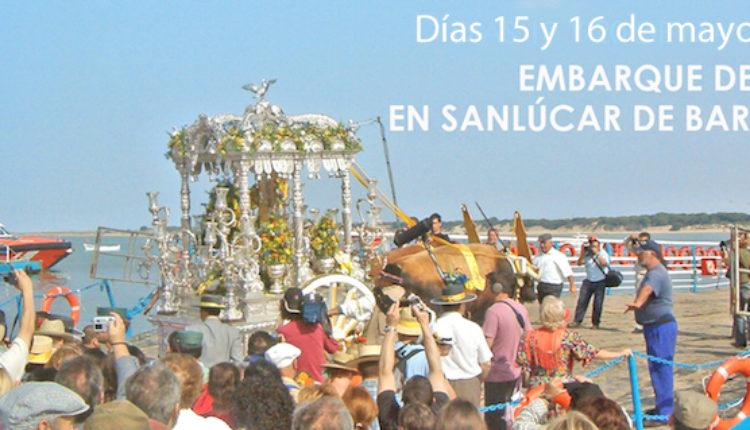 Embarque de Hermandades en Bajo Guía ,Sanlúcar de Barrameda