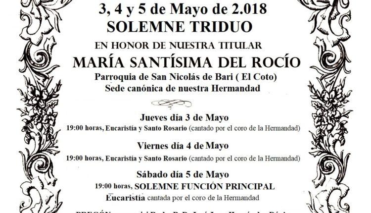 Hermandad de Gijón – Solemne Triduo 2018