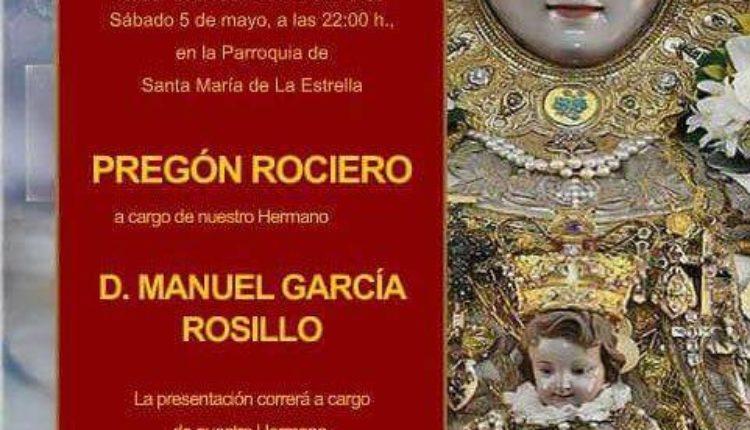 Hermandad de Coria del Río – Pregón del Rocío a cargo de D. Manuel García Rosillo