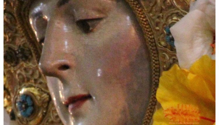 La Imagen de la Virgen del Rocío al Detalle