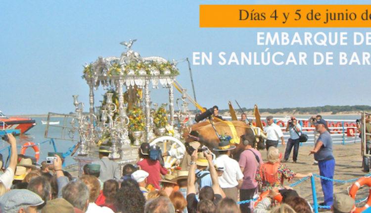 Embarque de las Hermandades del Rocío en Bajo Guía, Sanlúcar de Barrameda, 2019