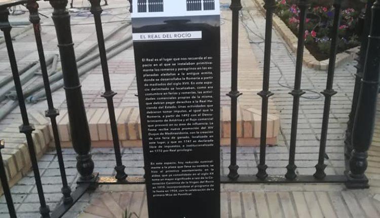 Cartelas Informativas en la Aldea del Rocío con Motivo del Centenario de la Coronación, por Santiago Padilla