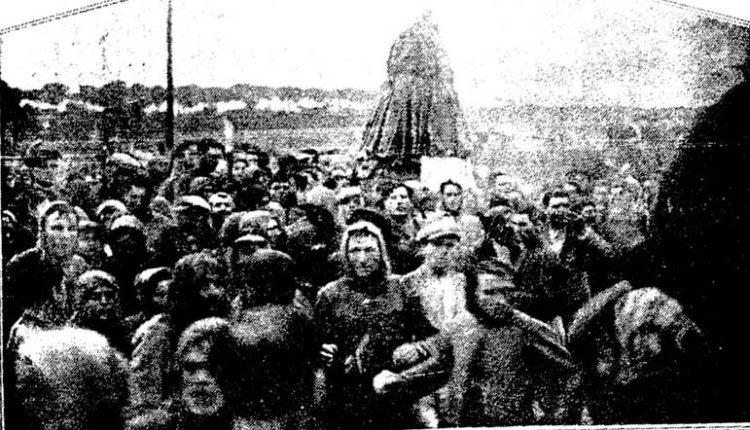 Traslado de la Virgen del Rocío en 1932