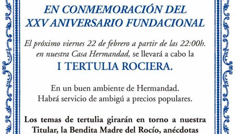 Hermandad de Valencina – I Tertulia Rociera