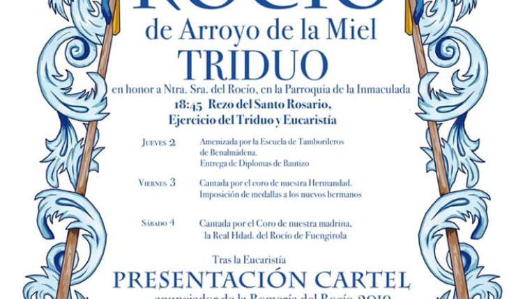 Hermandad de Arroyo de la Miel – Solemne Triduo y Presentación del Cartel