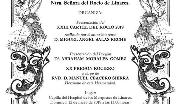 Hermandad de Linares – Pregón Rociero a cargo del RVDO. D. MANUEL CEACERO SIERRA