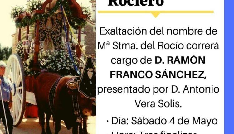 Hermandad de Chucena – XXV Pregón de la Romería del Rocío a cargo de D. Ramón Franco Sánchez