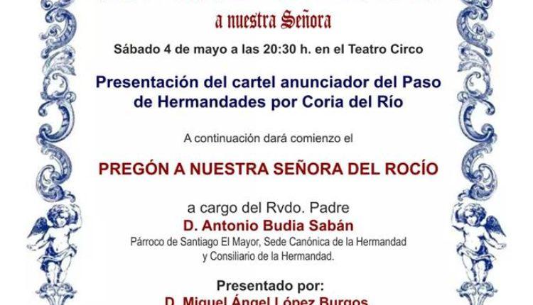Hermandad de Puente Genil – D. Antonio Budia Sabán Pregonero del Rocío 2019