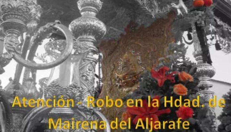 Robo en la Hermandad de Mairena del Aljarafe – Fotos de algunos objetos robados