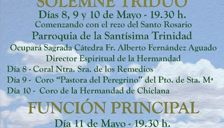 Hermandad de Chiclana – Solemne Triduo 2019