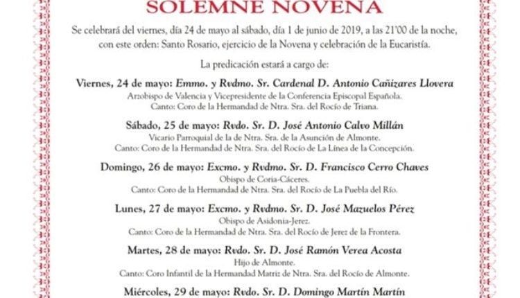 Programa Oficial de la Romería del Rocío 2019