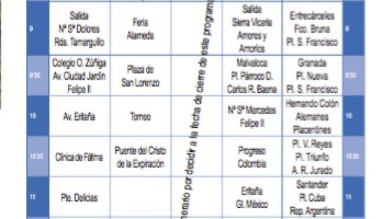 Itinerarios Salida, Llegada y Horarios de las Hermandades del Rocío de Sevilla 2019