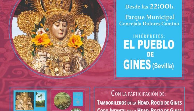 Gines celebra este viernes, 9 de agosto,  el 50 aniversario del Rosario  por Sevillanas
