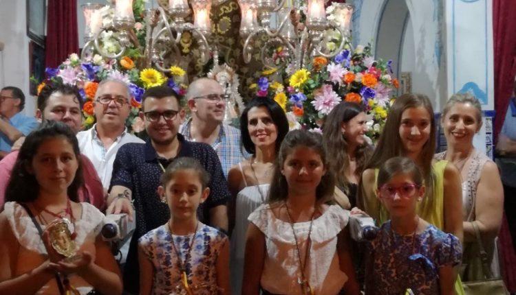 ¡LA CARRETA «LOS MANOJILLOS DE ROMERO» DE SANTA FE CANTA LA SALVE EN ISLA CRISTINA!