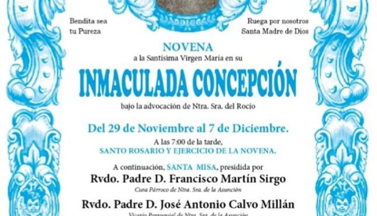 Hermandad Matriz – Novena a la Virgen en su Inmaculada Concepción