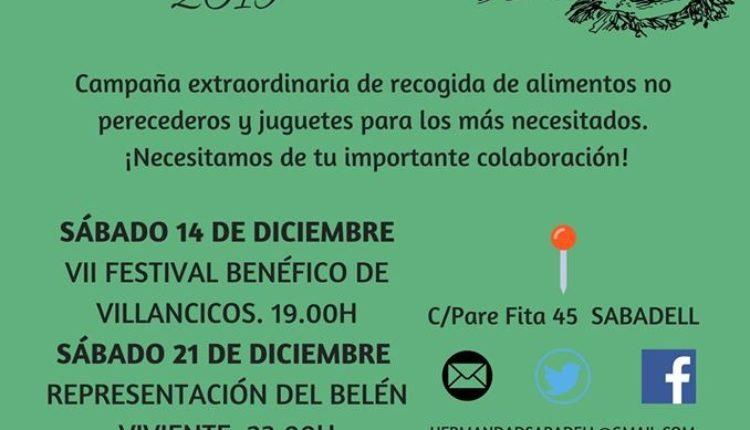 Hermandad de Sabadell – Navidad Solidaria 2019