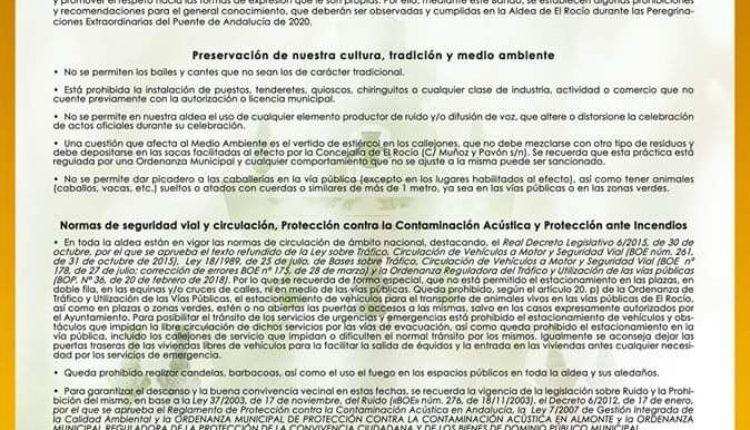 Bando con motivo de las Peregrinaciones Extraordinarias del puente Día de Andalucía 2020