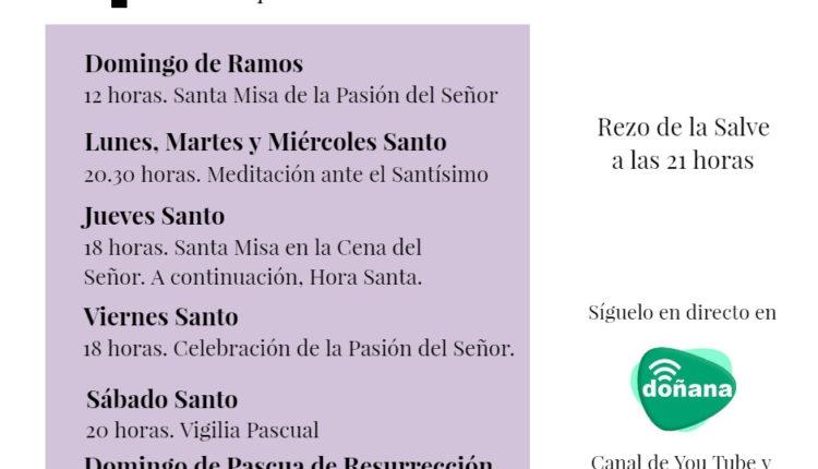 La Semana Santa desde la Parroquia de la Asunción de Almonte