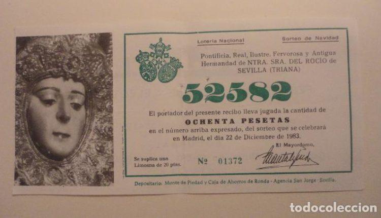 La Virgen del Rocío en los sorteos de la Lotería y la ONCE