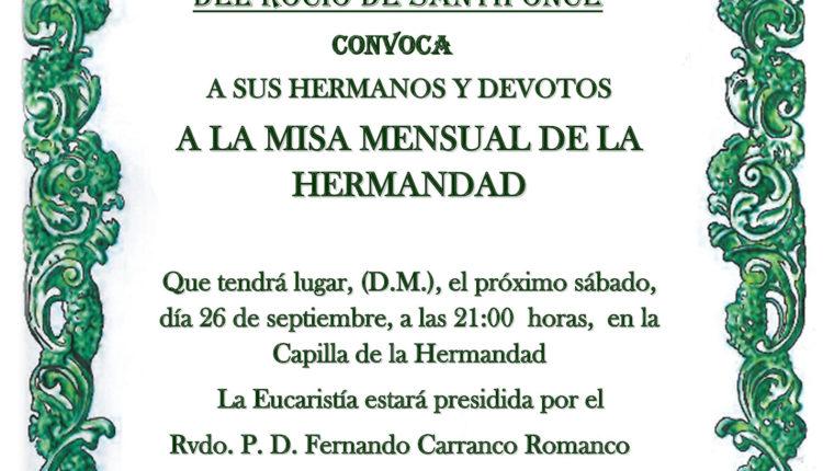 Hermandad de Santiponce – Misa Mensual