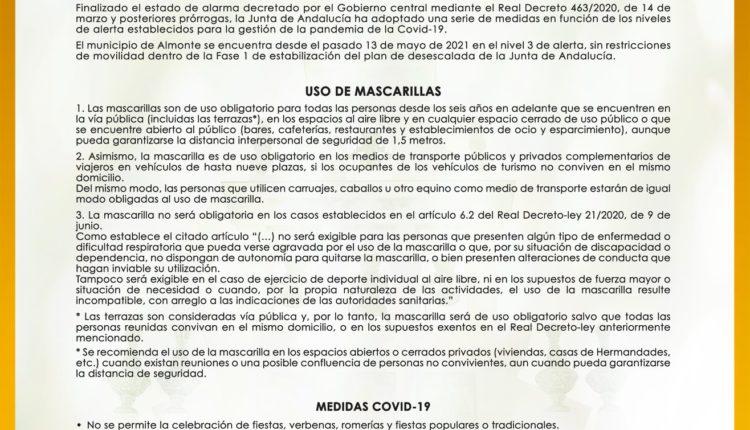Rocío 2021 – Bando Municipal del Ayuntamiento de Almonte