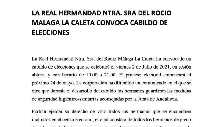 Hermandad de Málaga – La Caleta – Cabildo de Elecciones 2021
