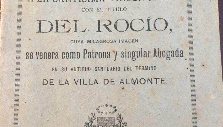 Novena Completa a la Virgen del Rocío de 1923