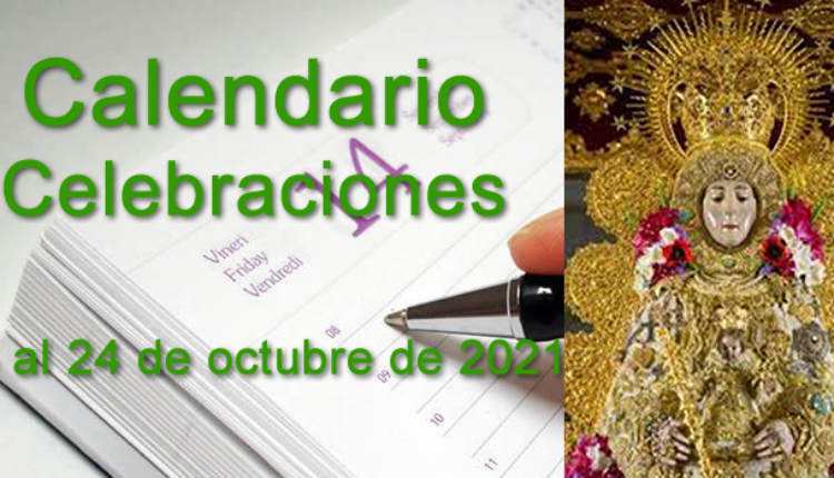 Calendario de celebraciones para la semana del 18 al 24 de octubre