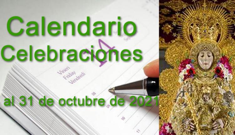 Rocío – Calendario de celebraciones para la semana del 25 al 31 de octubre