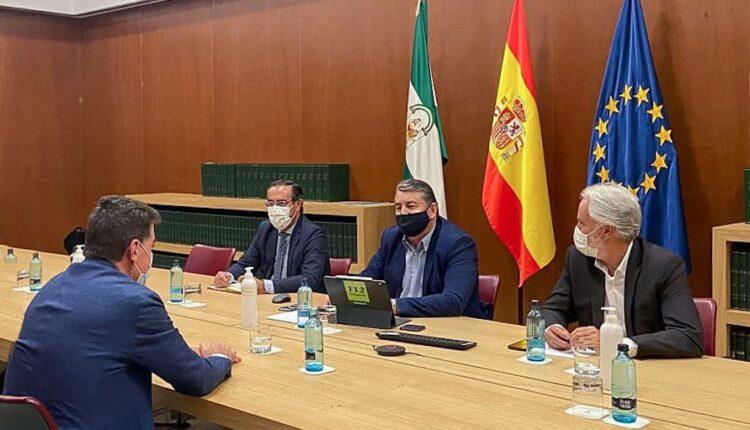 El Presidente de la Matriz en el Palacio de San Telmo para conocer la evolución de la pandemia y las previsiones